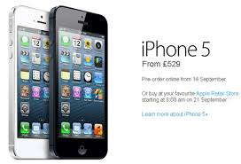 Unlocked Apple iPhone 5 Prices for UK Revealed