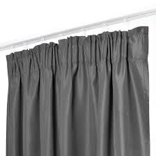 melody vorhang 2er set gardine curtain blickdicht kräuselband dunkelgrau 140x175 cm kurz 9018