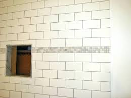 tiles accent tile shower wall top white subway tile with accent