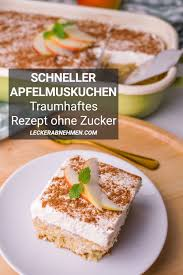 schneller apfelmuskuchen gesundes kuchen rezept ohne