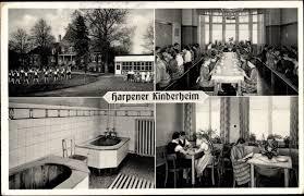 ansichtskarte postkarte bad sassendorf im kreis soest kinderheim der harpener bergbau ag badezimmer lesezimmer