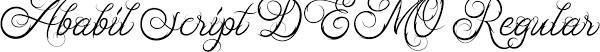 Ababil Script DEMO Font
