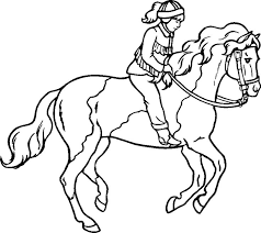 Derby Racing Horse Coloring Pages