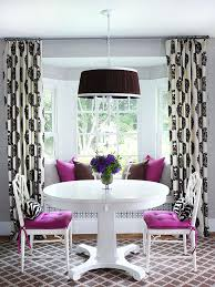 Bay And Bow Window Curtain Ideas For Dining Room Epic Corner Rod