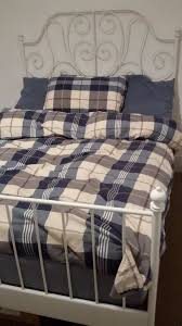 leirvik bed frame ikea leirvik bed frame mattress in south norwood gumtree