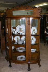 Curved Glass Curio Cabinet by Pictures Of Antique China Cabinets Roselawnlutheran