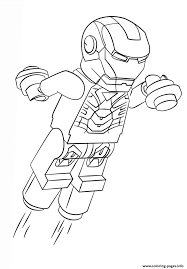 Lego Iron Man Coloring Pages Printable And Book To Print For Free Find More Online Kids Adults Of