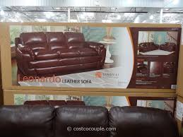 Decoro Leather Sectional Sofa by Costco Leather Sofa Roselawnlutheran