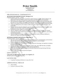 format for resume for teachers elementary resume exles resume sle for teachers