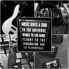 Black White Music Studio Aesthetic