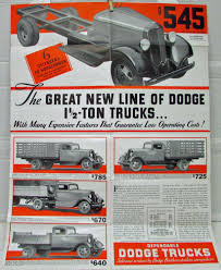 100 1934 Dodge Truck Sales Folder Mailer K 32 Series 1 12 Ton Specs