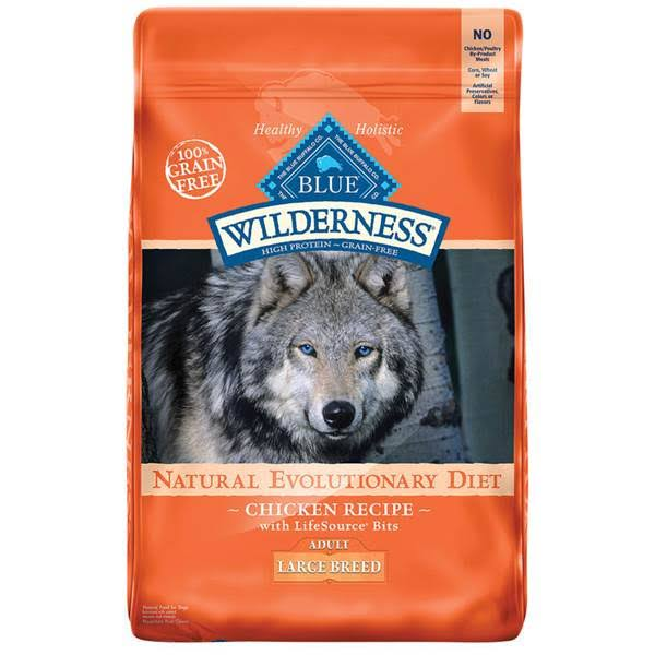 Blue Buffalo Wilderness Dog Food - Chicken, Large Breed, Adult, Dry, 24lbs