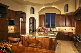 Rustic Italian Style Kitchen With Arch