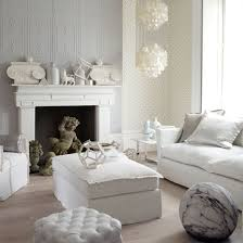 White Living Room With Interesting Decorations