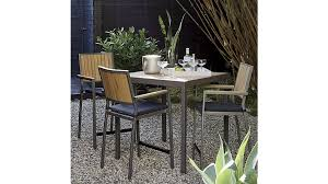 Crate And Barrel Dining Room Furniture by Alfresco Grey High Dining Table Crate And Barrel