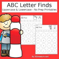 Alphabet Activities For Preschoolers Free Letter Find Uppercase Or Lowercase Printable Preschool Pinterest
