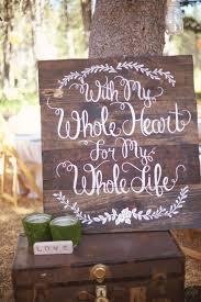 Pretty Rustic Wedding Sign From Woodsy Sierra Nevada