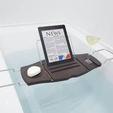 Bamboo Bathtub Caddy With Reading Rack by Bath U0026 Shower Comfy Gorgeous Wooden Tray Bath Tub Caddy And Black