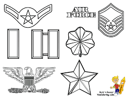 Air Force Rank Insignia Coloring To Print At YesColoring USA Army Flag Page