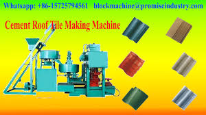 cement concrete roof tiles machine for sale with low cost