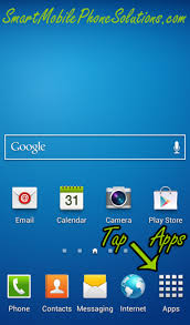 Then locate the application that you would like to access from the Home screen