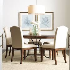 The Nook 54 Inch Round Metal Dining Room Set Maple