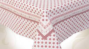 nappe de table coton en 150 x 250 sur le thème de noël