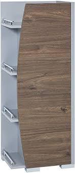 schildmeyer badezimmer unterschrank korpus und fronten aus melaminharzbeschichteter spanplatte platingrau nussbaum ca 42 5 x 32 x 115 8 cm