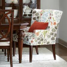 Upholstered Dining Chairs With Arms Regarding Lovely Dining Room ...