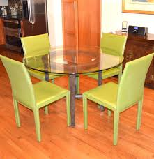 Crate And Barrel Dining Table Chairs by Crate U0026 Barrel Glass Dining Table And