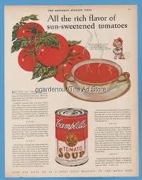 1928 CampbellsTomato Soup Kid Soick And Span Antique Kitchen Decor Magazine Ad