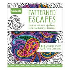 Patterned Escapes Adult Colouring Book