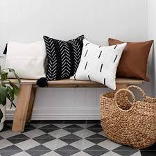 inspired ivory farmhouse überwurf kissenbezüge 4er set dekorative boho kissenbezüge für wohnzimmer azteken wurfkissenbezüge 45 7 x 45 7 cm für