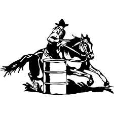 Large Barrel Racing Cowgirl Rodeo Horse Wall Stickers Boys Living Room Picture Car Truck Window Vinyl Decal Sticker In Sale From Home