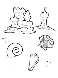 Color In Your Summer Vacation With This Beach Coloring Page