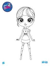Littlest Pet Shop Coloring Pages Lps Printables Blythe From Page Drawing