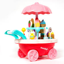 Ihubdeal Mini Ice Cream Candy Cart Toy Pretend Play Set 30Piece