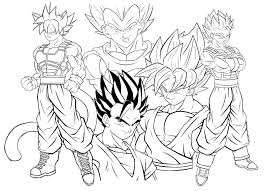 Goku Para Colorear Facil Para Pintar Goku Nuevo Dibujos Para