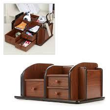 Desk Drawer Organizer Amazon by Amazon Com Mygift Classic Brown Wood Office Supplies Desk