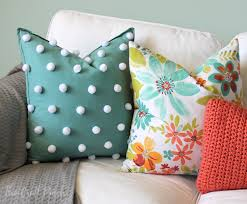 The Craft Patch Easy Polka Dot Pom Pom Throw Pillow