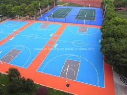 terrain de basket exterieur plancher extérieur poreux de verrouillage de terrain de basket