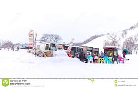 Food Truck In Snow Area Of Niseko Editorial Stock Photo - Image Of ...