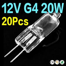 ae 12v 20 watt g4 base clear tungsten halogen jc type mini l