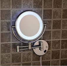 installing lighted makeup mirror wall mount the decoras