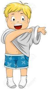 I Put On Clothes Clipart