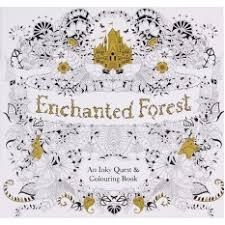 Yingwei Coloring Book Enchanted Forest 24 Pages English