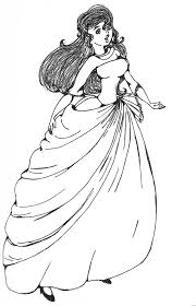 Prom Dress Coloring Pages Image