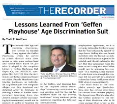 Lessons Learned From Geffen Playhouse Age Discrimination Suite