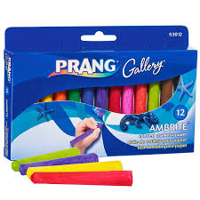 Amazon.com : Prang Ambrite Paper Chalk, Tapered, Assorted Colors, 12 ...