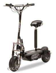 500W Front Rear Suspension Electric Scooter ES16 Black Seat